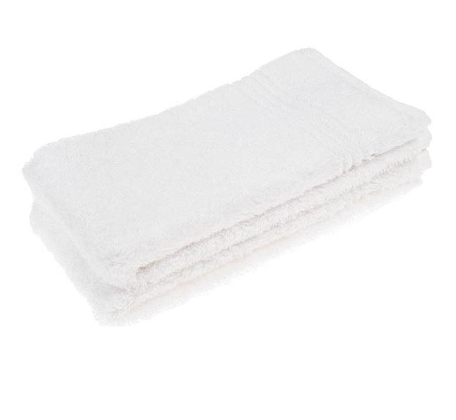 Gastendoek set van 2 stuks wit 70 x 30 cm