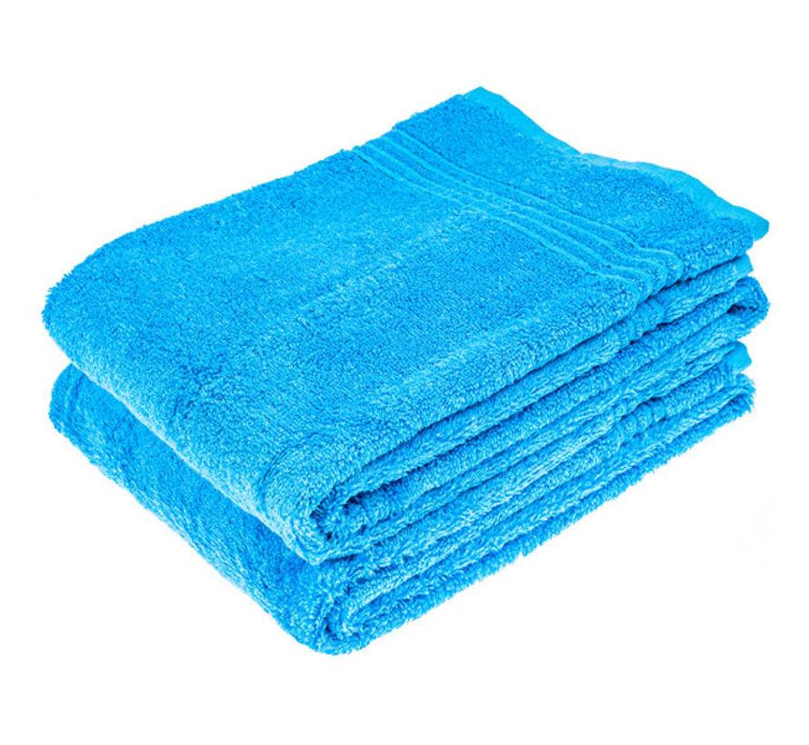 Bamboe handdoek blauw 100 x 50 cm