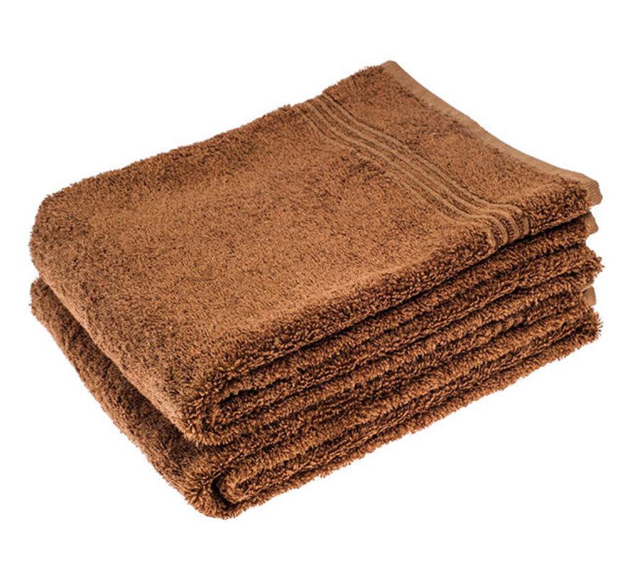 Bamboe handdoek bruin 100 x 50 cm