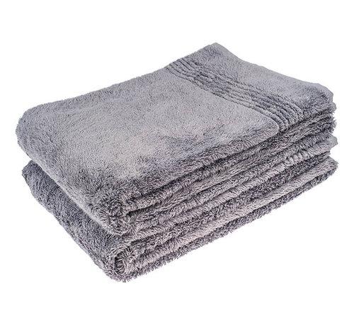 Handdoeken 100 x 50 cm Bamboe handdoek grijs 100 x 50 cm
