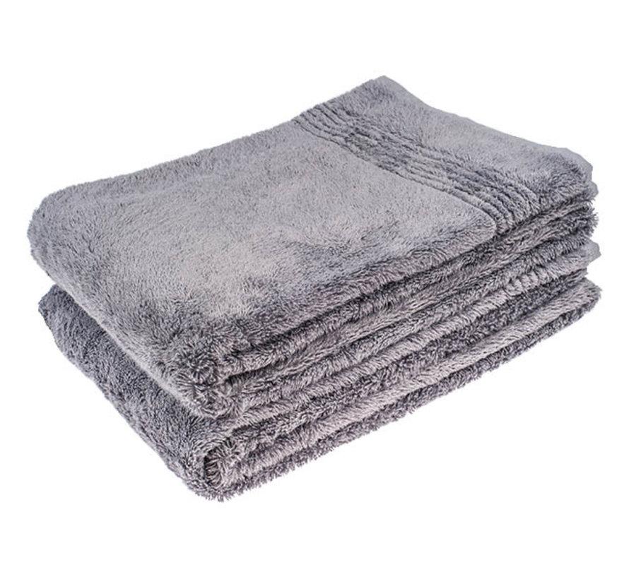 Bamboe handdoek grijs 100 x 50 cm