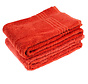 Bamboe handdoek rood 100 x 50 cm