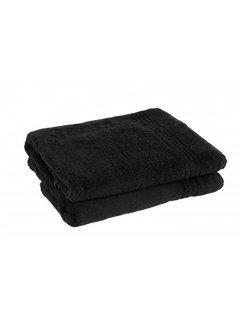 Handdoeken 50 x 30 cm Handdoek set van 2 stuks  zwart 50 x 30 cm