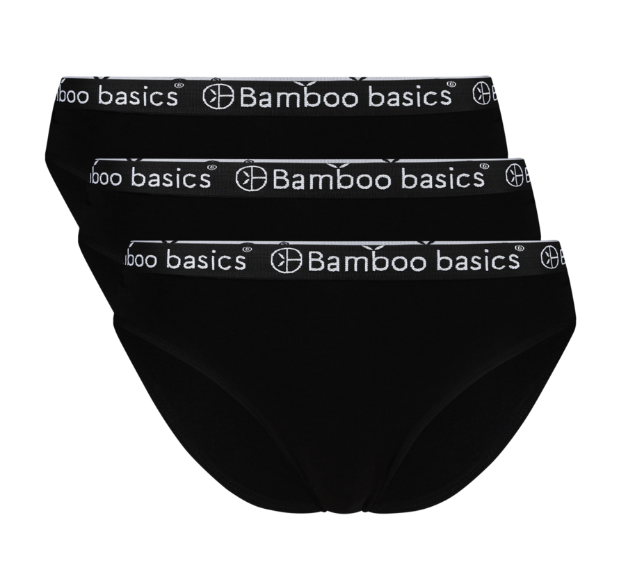 Bamboo basics briefs zwart 3-Pack - Yara