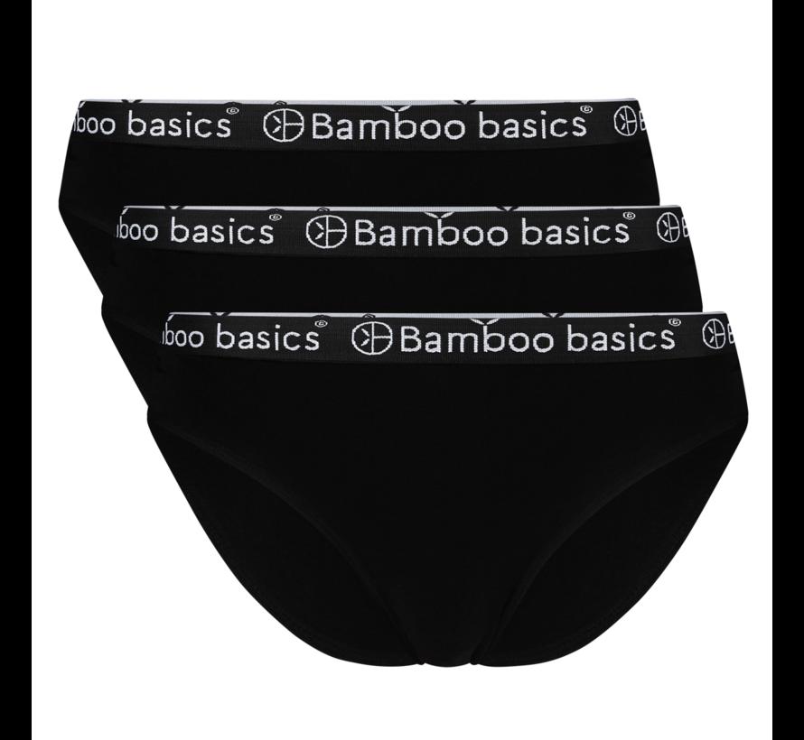 Bamboo basics slip zwart 3-Pack