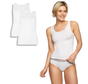 Bamboo basics singlets wit 2-pack - Anna