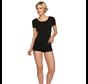 Bamboo basics dames T-shirts zwart 2-Pack