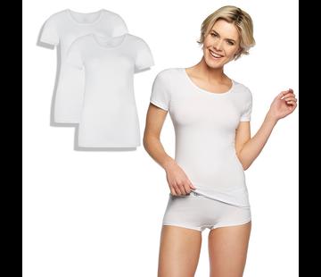 T- shirts Bamboo basics T-shirts - Kate - 2-Pack  - Wit