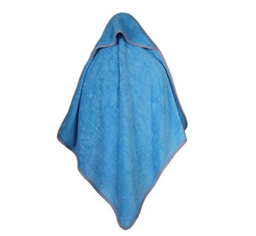 Baby handdoeken Baby handdoek blauw met capuchon 75x75cm