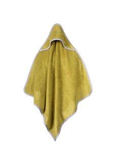 Baby handdoeken Baby handdoek groen met capuchon 75x75cm
