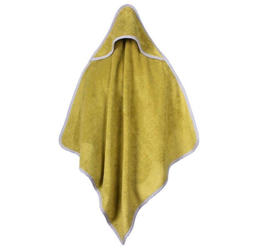 Baby handdoek groen met capuchon 75x75cm