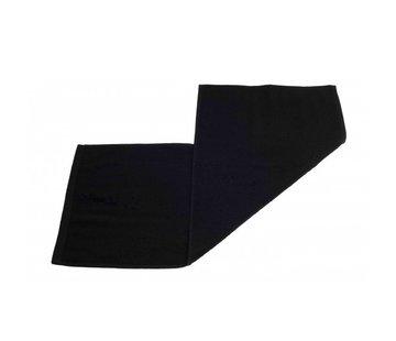 Handdoeken 70 x 30 cm Gastendoek set van 3 stuks zwart - 70 x 30 cm