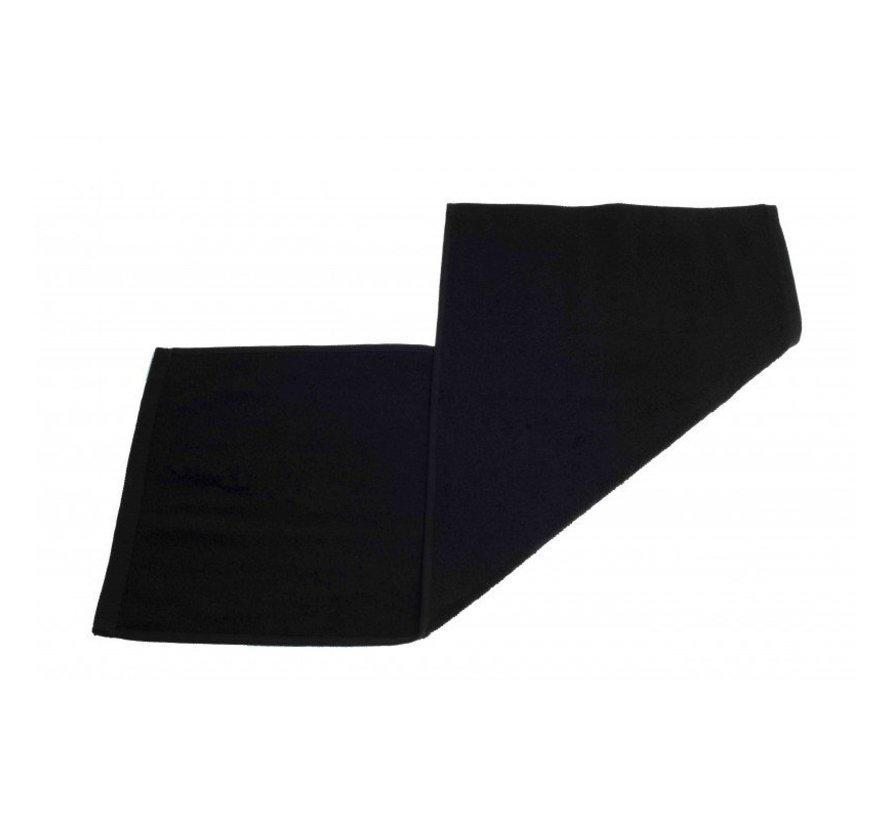 Gastendoek set van 3 stuks zwart - 70 x 30cm