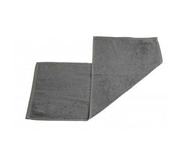 Handdoeken 70 x 30 cm Gastendoek set van 3 stuks grijs - 70 x 30 cm