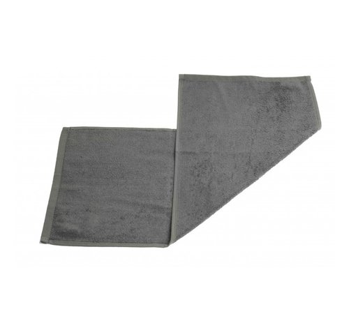 Handdoeken 70 x 30 cm  Gastendoek set van 3 stuks grijs - 70 x 30cm