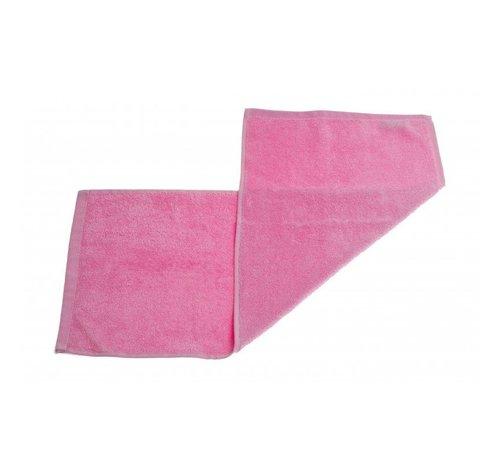 Handdoeken 70 x 30 cm  Gastendoek set van 3 stuks roze - 70 x 30cm