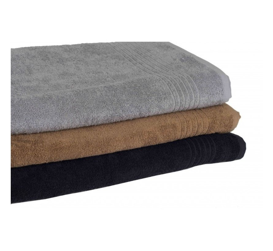 Bamboe handdoek zwart 100 x 50 cm