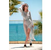 Jurken Opengewerkte Maxi jurk fabulous  grijs