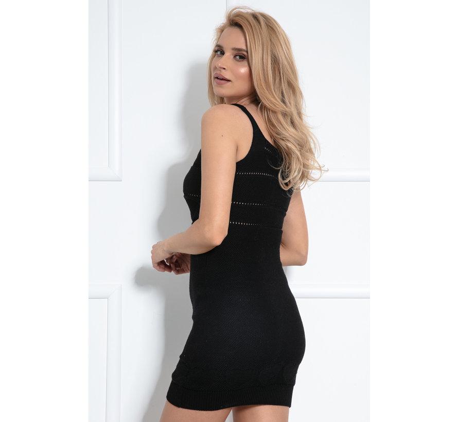 Set top en opengewerkte rok fabulous - Zwart