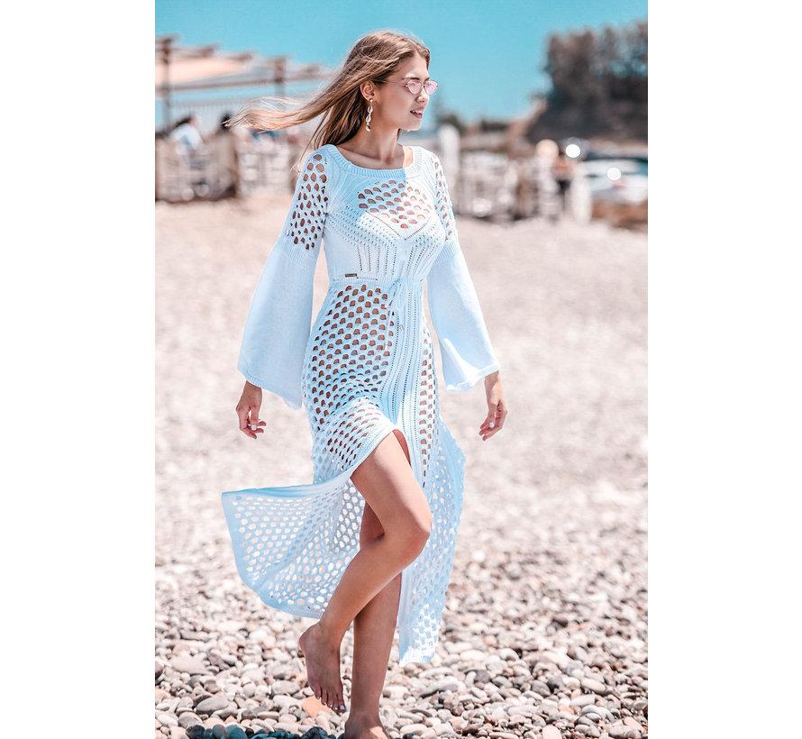 Opengewerkte Maxi jurk fabulous - Wit