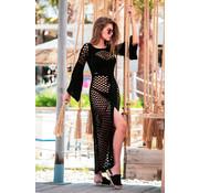Jurken Opengewerkte Maxi jurk fabulous - Zwart
