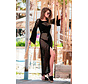 Opengewerkte Maxi jurk fabulous - Zwart