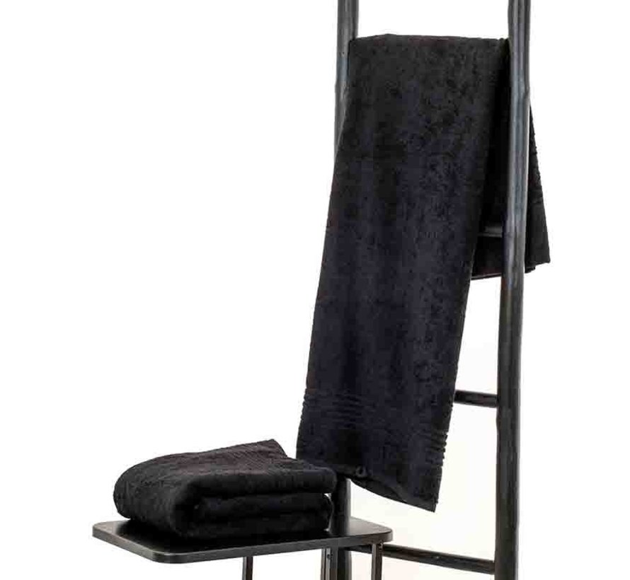 Sauna handdoek zwart 200 x 90 cm