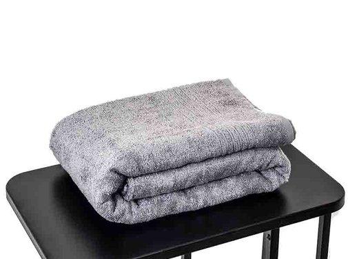Handdoeken 200 x 90 cm Sauna handdoek grijs 200 x 90 cm