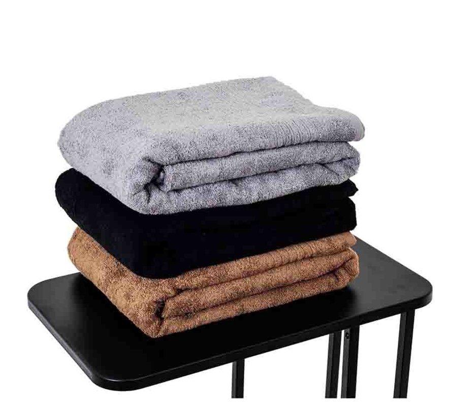 Sauna handdoek grijs 200 x 90 cm
