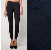 Leggings Bamboe legging met patroon - Zwart