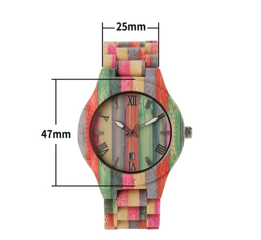 Bamboe horloge man & vrouw - Londen