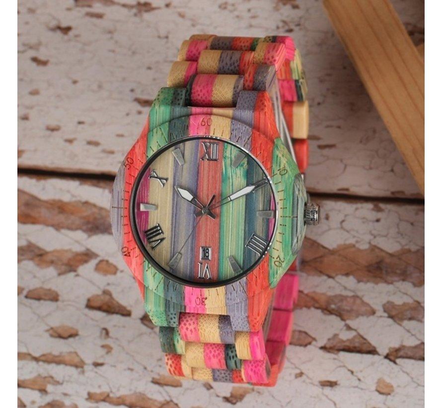Bamboe horloge London - Unisex