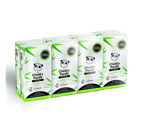 Zakdoekjes Bamboe zakdoekjes plasticvrij - 8-Pack - 3 Laags