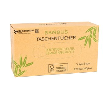 Tissues Pandoo bamboe tissues 6 stuks - Plasticvrij