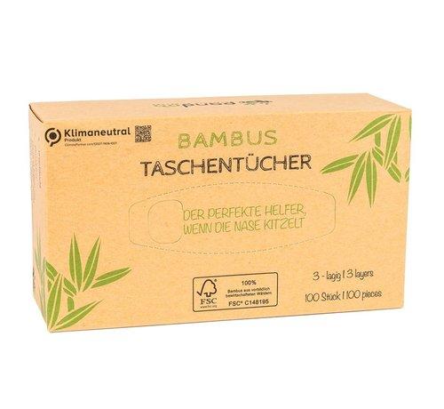 Tissues Pandoo bamboe tissues - 5-Pack  Plasticvrij