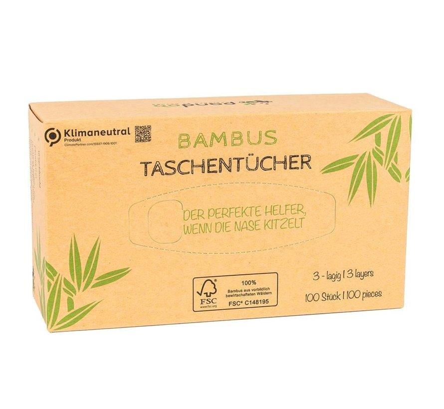 Pandoo bamboe tissues- Plasticvrij