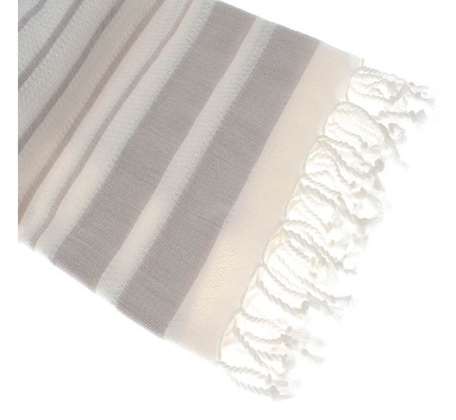 Bamboe hamamdoek - Aquastreeps cream - XXL 190x90cm