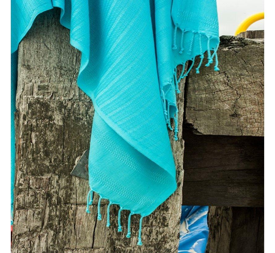 Bamboe hamamdoek - Blauw - XXL 190x90cm