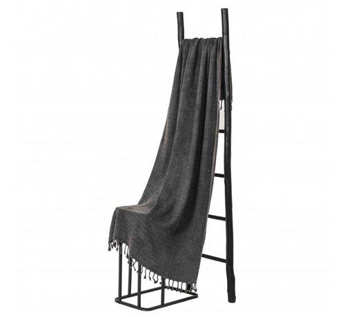 Hamamdoeken Bamboe hamamdoek - Antraciet - XL 185x90cm