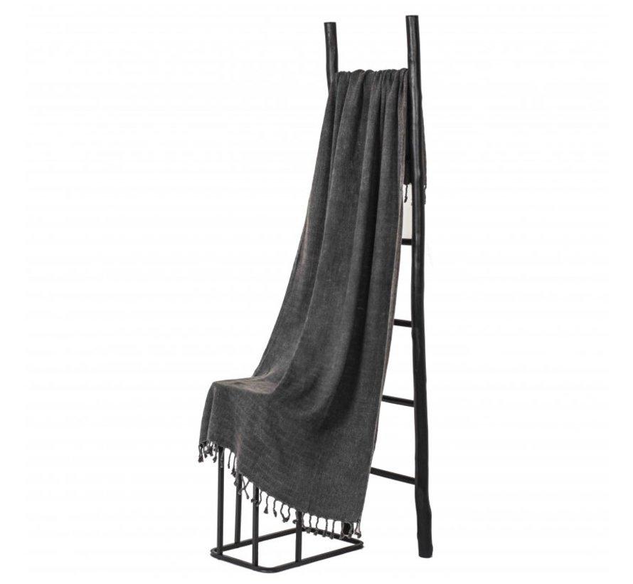 Bamboe hamamdoek - Antraciet - XL 185x90cm