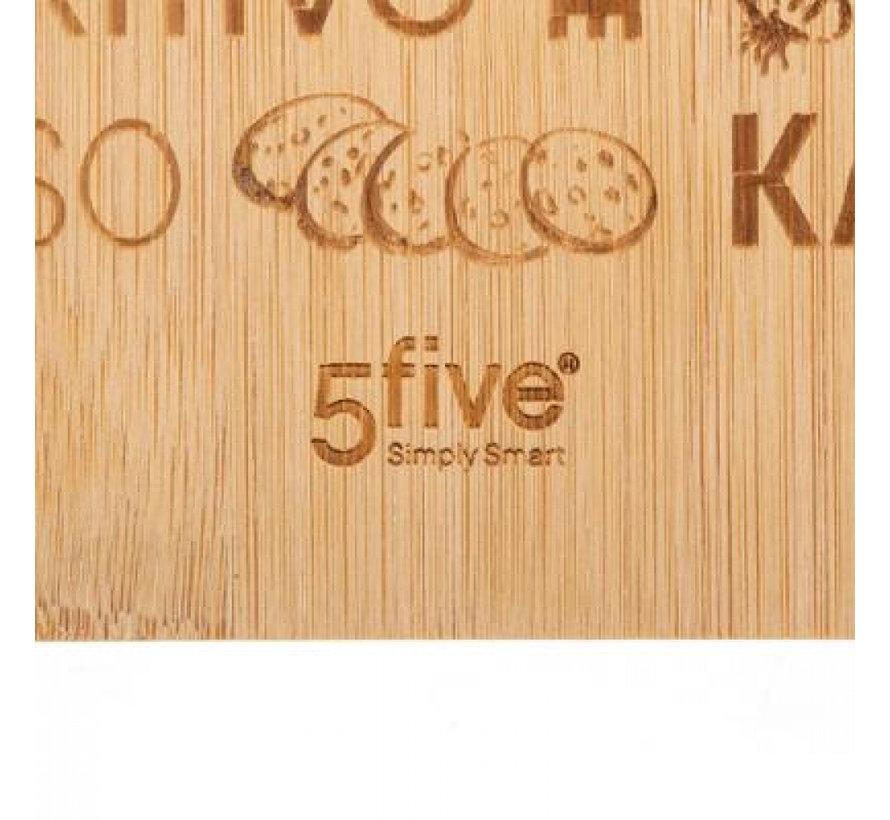 5Five bamboe tapas serveerplank 45 x 19.7 cm