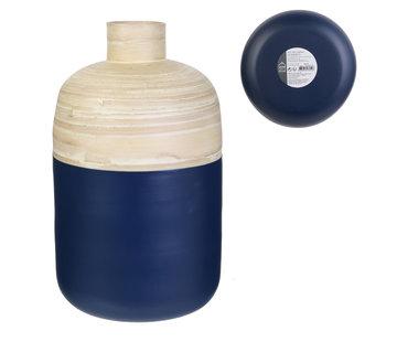 Bloempotten Decoratieve bamboe pot - 34 cm - Blauw