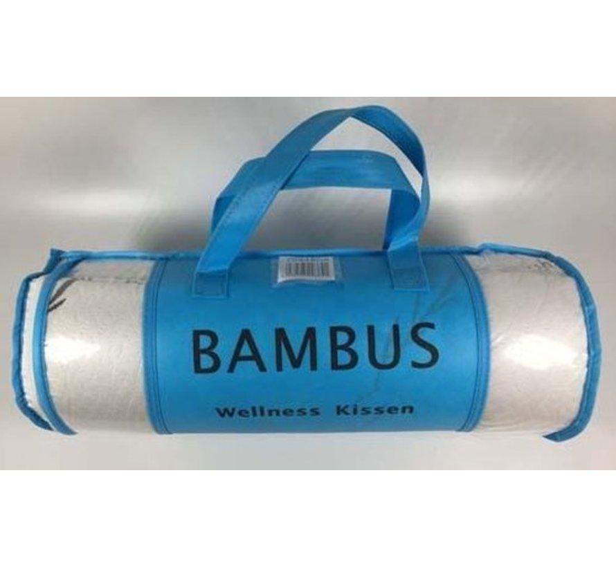 Bamboe wellness hoofdkussen 60x48 cm voor uitgerust wakker worden