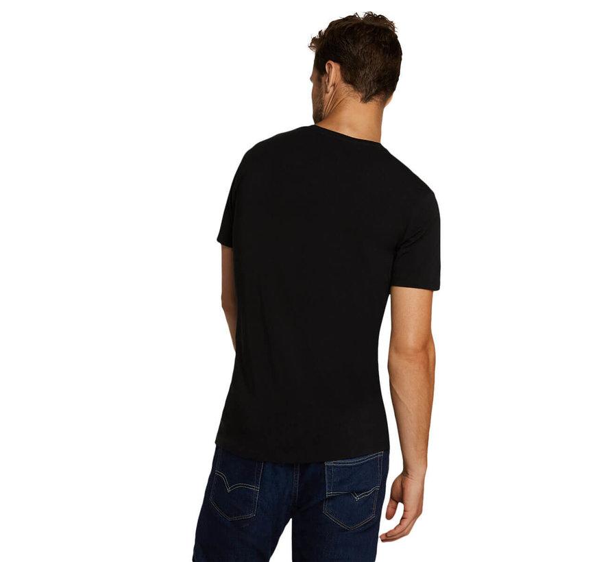 Bamboo Basics T-shirts Ruben ronde hals– Zwart (2-pack)