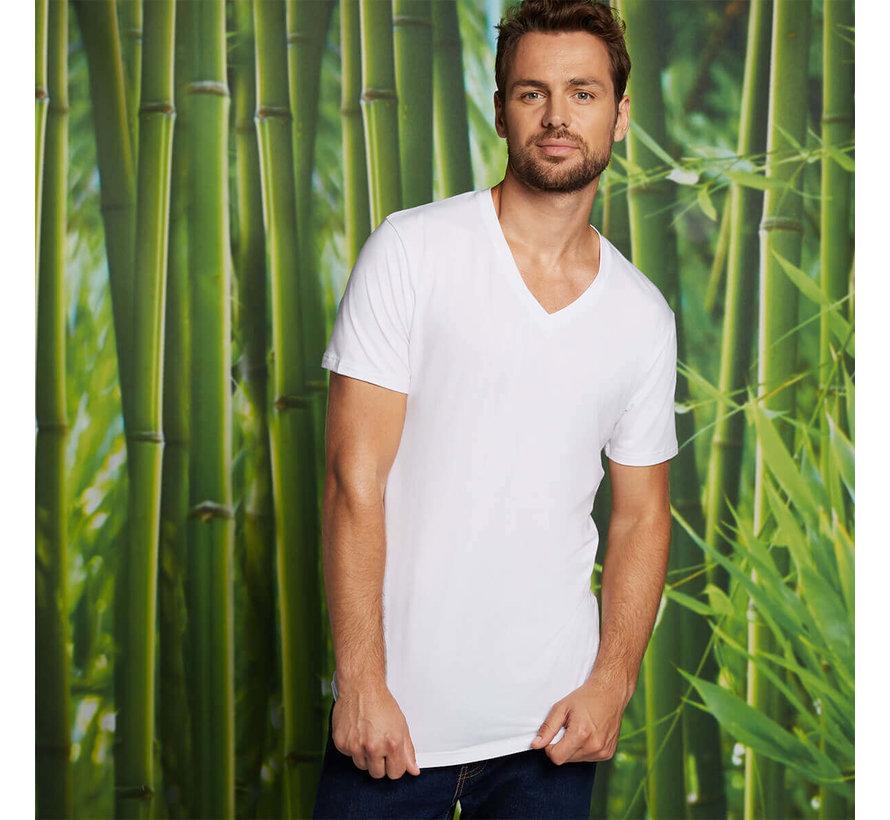 Bamboo Basics T-shirts Velo V- hals – Wit - (2-pack)