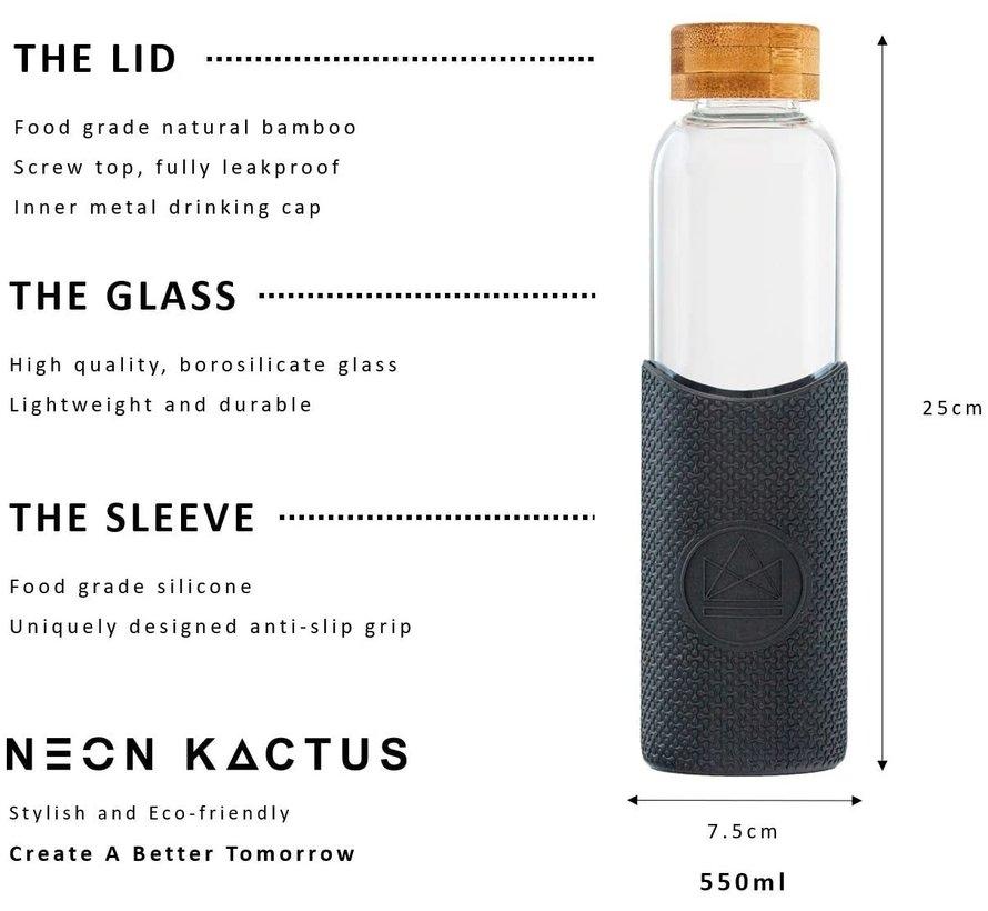 Neon Kactus Glass waterfles- Rock Star - 550ml