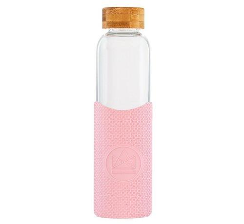 Water flessen Neon Kactus Glass Waterfles - Pink Flamingo 550ml