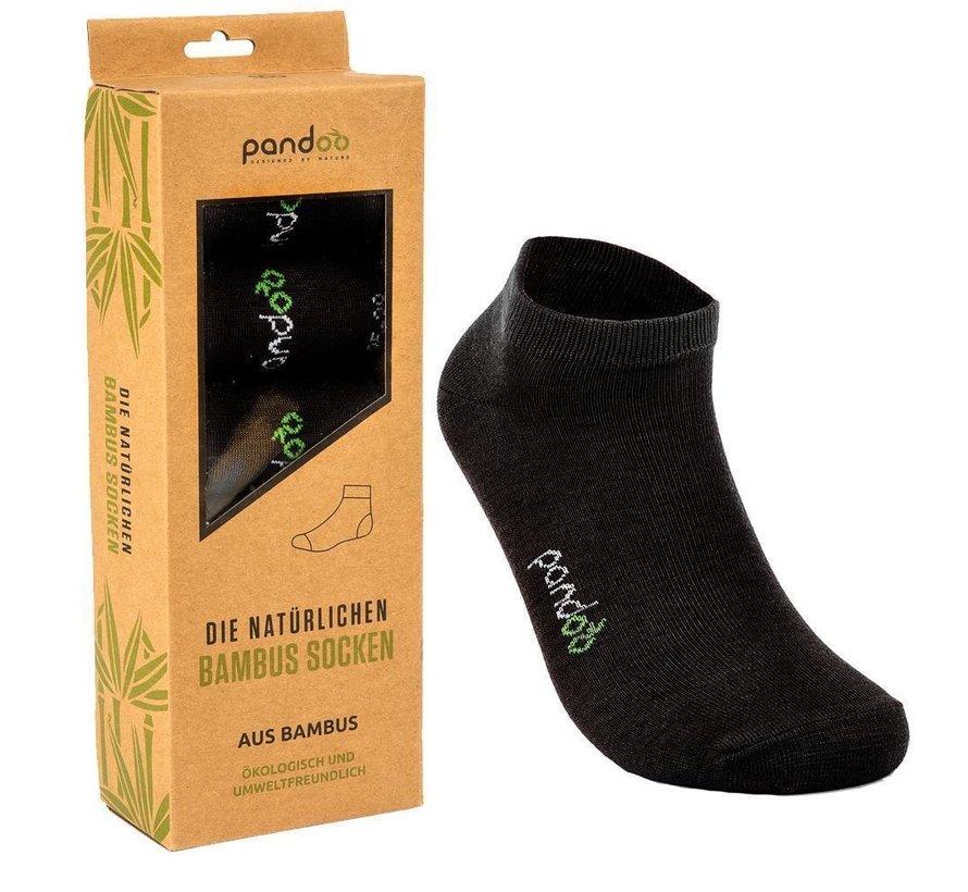 Bamboe Unisex sneakersokken - 6-Pack -Zwart