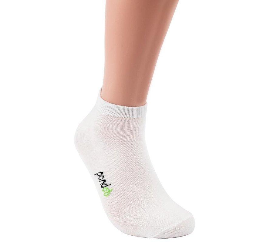 Bamboe Sneaker Sokken - Wit - 6-Pack - Unisex