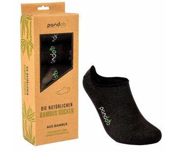 Sokken Bamboe Footies Sokken - Zwart - 6-Pack - Unisex